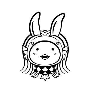 アマビエ Illustrated by 白幡香織